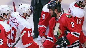 Datsyuk congratulates Seabrook after Game 7. (courtesy of CBC)